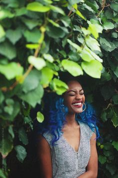 A portrait of a young woman standing beside green foilage by Chelsea Victoria - Woman, African american - Stocksy United Justin Photos, Chelsea Victoria, Woman Standing, Young People, Young Women, Black Women, African, The Unit, Colours