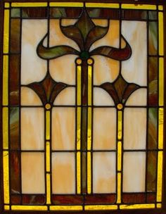 Craftsman style leaded glass, early 1900s