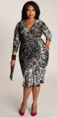 Wrap dresses are a safe bet for any occasion. You can dress them up or down. They transition well from day to night. And it is a great style for plus size women. It has the V-neckine, defined waist and draped skirt. Say yes to this dress!!