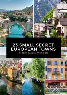 The most beautiful, underrated destinations in Europe you need to know about! Skip the crowds and fall in love with these small secret European towns. travel destinations 23 Small Secret European Towns You Must Visit Europe Destinations, Europe Travel Tips, Travel Goals, Traveling Europe, Backpacking Europe, Travel Eastern Europe, Europe Weekend Trips, Overseas Travel, Travel Hacks