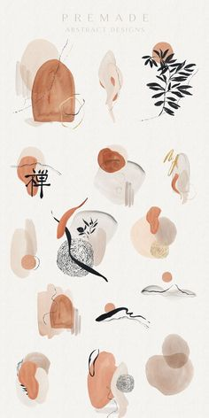 Art And Illustration, Watercolor Illustration, Art Illustrations, Art Et Design, Salon Design, Textile Design, Grafik Design, Wabi Sabi, Art Inspo