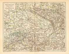 1907 Original Antique Map of the Prussian by CabinetOfTreasures