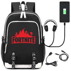 44ccbff5edf3 2018 New Game Fortnite Battle Royale Printing Backpack Unisex Travel Bags  Canvas School Bags USB Charge Laptop Backpack