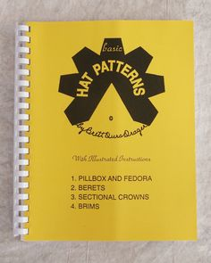 Basic Hat Patterns instructional book with pull-out patterns that are interchangeable.
