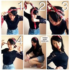 KNOT JUST A SCARF: Ways to Tie A Silk Scarf - Tutorial #65: A cute twisted headband! Keeps your...