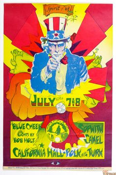 California Hall Poster AOR 2.149 Blue Cheer Sopwith Cannel 1967 Jul 7