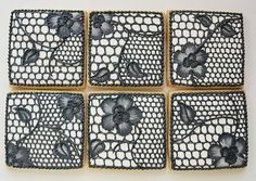Black Lace Cookies  Set of 6 Orange Vanilla Spice by SweetAmbs