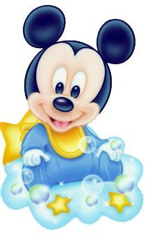 Baby Mickey on Cloud Mickey Mouse Baby Shower, Mickey Mouse Parties, Mickey Party, Baby Mouse, Mickey Mouse And Friends, Disney Cartoon Characters, Disney Cartoons, Mickey Mouse Imagenes, Retro Disney