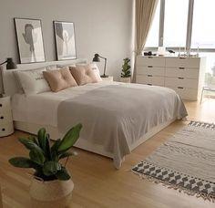 Chambre beige  Chic épurée  Blanc
