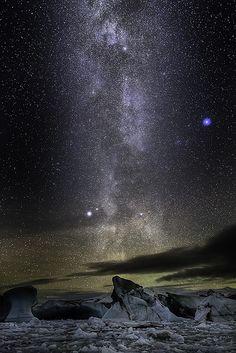 Milky Glacier Way............................... thk:::::::::::::::::::::::::::::Iceland