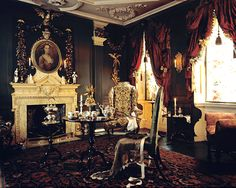 Withdrawing Room at Dennis Severs' House in Spitalfields, London