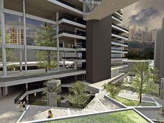 Uso misto Estação Vila Prudente - Articulando espaços e passagens interligados, o edifício propicia lugares de encontro e convívio. ______________________________   Mixed use Vila Prudente Station   #mixeduse #architecture