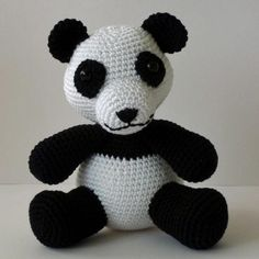 haakpatroon amigurumi panda