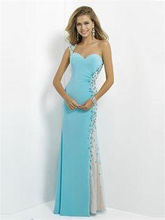 Lovely One Shoulder Sweetheart Beadings Prom Dress PD2762