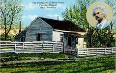 Mark Twain's birthplace, Florida, MO