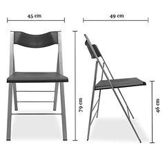 Amazon.de: DESIGN Klappstuhl-Set Ultra-Slim, 2 Stück im Set, geklappt nur 8cm tief, UVP 179 EUR