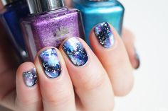 Galaxy nails - Nail art