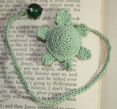 Crochet Turtle Book Mark/Book Thong by SistersBoutique2 on Etsy