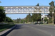 Valencia California. Paseo systems (walking paths) connect neighborhoods making it safer to move about.