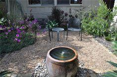Restful Water in Gravel Patio