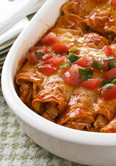 Turkey Enchiladas – Transform 2 cups of cooked turkey with enchilada sauce, Mexican-style cheese, tomatoes and chopped cilantro. They're ready for the oven in just 15 minutes.