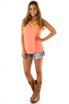 The Last Temptation Top: Neon Coral....enjoy 10% off and FREE SHIPPING while quantities last by using code CSMITHREP