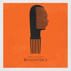 Nigerian artist Fred Martins uses the symbol of the Afro Comb to celebrate significant African activists, who were jailed fighting for freedom and fairness.