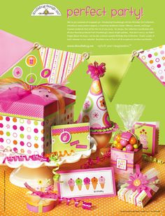 Doodlebug Design Ad: Perfect Party