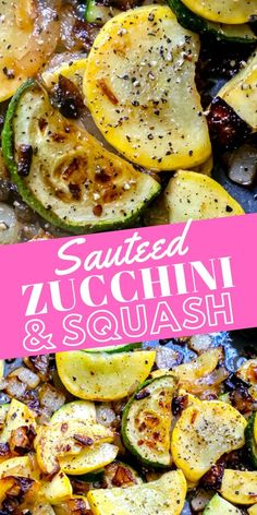 Easy Sautéed Squash and Zucchini Recipe - side dishes #sidedishes Baked Squash And Zucchini Recipes, Summer Squash Recipes, Zuchinni Recipes, Veggie Recipes, Cooking Recipes, Keto Recipes, Easy Yellow Squash Recipes, Vegetarian Zucchini Recipes, Cooked Vegetable Recipes