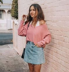 About the sunday chapter novo estilo, moda femenina, outfits juvenil, ropa juvenil Spring Outfits For School, Cute Spring Outfits, Cute Casual Outfits, Outfits For Teens, Black Outfits, Casual Outfits For Summer, Summer Outfit, Valentines Day Outfits Casual, Winter Outfits