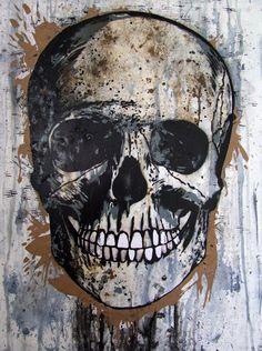 Skull Portrait by Destroytrash.