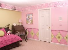 home pink painting designs walls