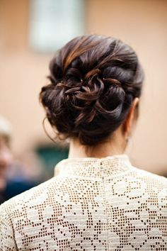 When it comes to choosing a prom hairstyle, you can't go wrong with a classic prom updo. These examples of classic updos are absolutely gorgeous.: A Look at an Updo From Behind Mod Wedding, Wedding Updo, Wedding Hairstyles, Trendy Wedding, Perfect Wedding, Wedding Ideas, Timeless Wedding, Wedding Blog, Wedding Photos