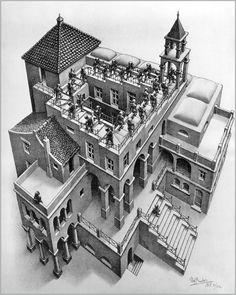 M. C. Escher. Never endig stairs