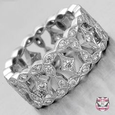 Wide Bridal Bands | Wedding Rings  This is the ring mine was to be like...