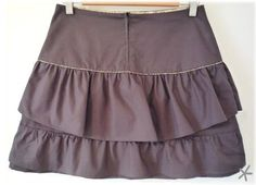 flirty tiered skirt tutorial.