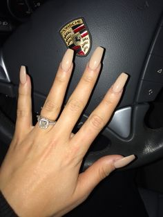 Coffin nails, nude, Porsche