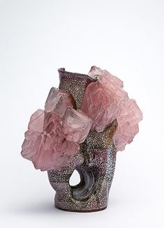 Lukas Wegwerth | Crystallization 47 | 2015, Ceramic, Crystals | Unique | Germany  Commissioned for Design Miami/Basel http://www.galleryfumi.com/Exhibitions/Current/Design-Miami-Basel/