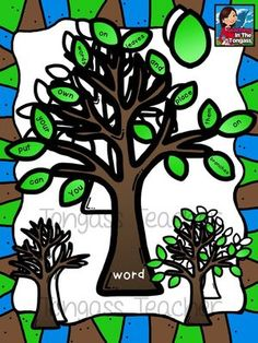"""Interactive Tree Clipart Bundle from tongassteacher on TeachersNotebook.com -  (8 pages)  - This """"interactive"""" tree clipart is perfect for word and math resources! Just add your own words/letters/numbers/etc. to the leaves and you're set!"""