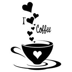 I Coffee. Would look cute above my coffee bar. I Love Coffee, Coffee Art, Coffee Break, My Coffee, Coffee Drinks, Morning Coffee, Coffee Shop, Coffee Cups, Coffee Lovers