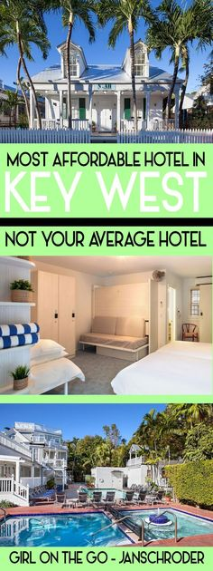 Most Affordable Hotel in Key West: Not Your Average Hotel Hangout in Keywest, Florida in style without breaking the bank at this amazing hotel, Not [. Florida Vacation, Florida Travel, Vacation Places, Vacation Destinations, Travel Usa, Vacation Ideas, Travel Tips, Budget Travel, Vacation Meme