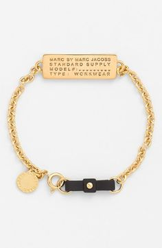 MARC BY MARC JACOBS Bow Tie ID Plate Bracelet available at #Nordstrom