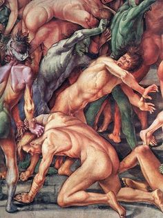 Luca Signorelli.The Damned (Detail): 1499-1502, Fresco in the chapel  of San Brizio