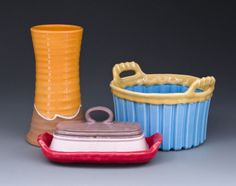 Brian Taylor, wheel-thrown and handbuilt ceramic vessels.