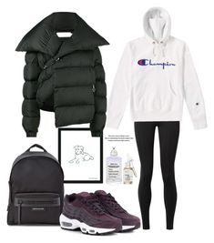 """14.01.18"" by caglatersak on Polyvore featuring moda, Maison Margiela, The Row, Longchamp, Champion, NIKE, Marques'Almeida, Current Mood ve polyvorecontest"