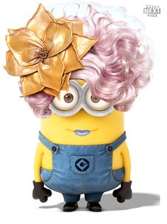 Elizabeth Banks Minion as Effie Trinket in The Hunger Games Amor Minions, Despicable Me 2 Minions, Cute Minions, My Minion, Minions Quotes, Girl Minion, Minion Stuff, Evil Minions, Funny Minion