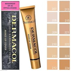 Dermacol High Cover Makeup Foundation Hypoallergenic Waterproof SPF 30 | eBay