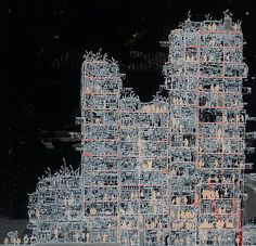 Cross-section, Kowloon Walled City. Hak Nam, City of Darkness, Hong Kong… Kowloon Walled City, Cardboard City, Villas, Vertical City, Urban Village, What Image, Building Structure, Old Building, Lost City