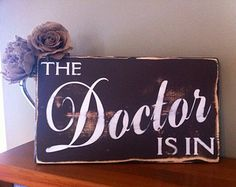 Doctor's Office Sign, The Doctor Is In Desk Plaque Office Gift, Medical Student Mother's Day Gifts, Med School Graduation Gift, Doc Birthday
