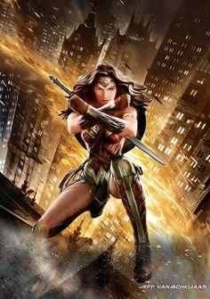 Wonder Woman: Dawn Of Justice Fanart Poster by jeffery10.deviantart.com on @DeviantArt
